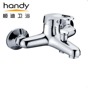 Wall Mounted Bath tub Brass Chrome Faucet