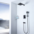 HIDEEP Black Shower Faucet Hot Cold Shower Set