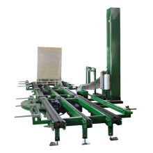 Automatic rotatable pallet wrapping machine