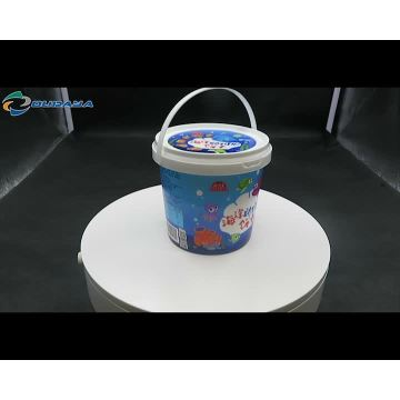 Stocked tamper evident plastic paint bucket plastic buckets