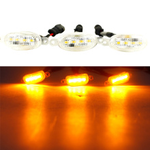 3pcs LED Front Grille Running Lights For F150 Raptor Tundra Tacoma,Smoked Lens Xenon Lamps