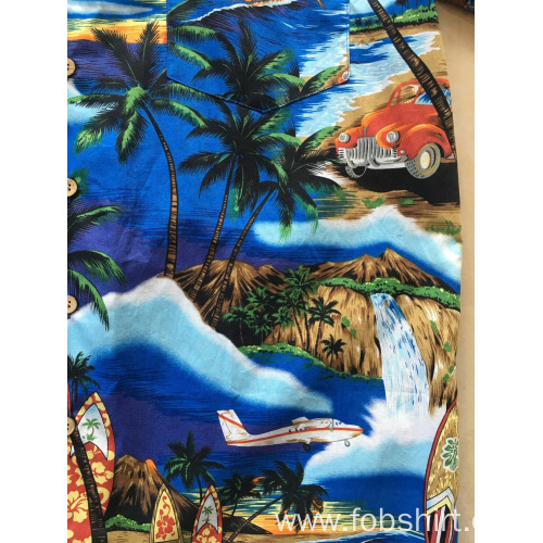 Cotton Printing Hawaii Shirt Sale