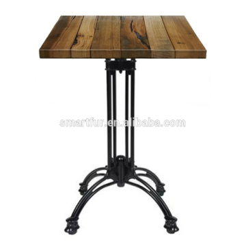 cast iron material cross leg dining table