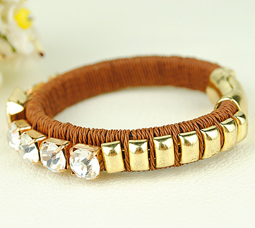 Crystal Gold Bangle Bracelet