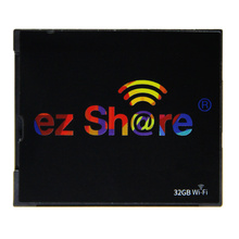 new free shipping Ez share wifi cf Card 64G 128GB DLSR Camera wireless 7D highspeed 5D2 CF memory card with WIFI card hot sold