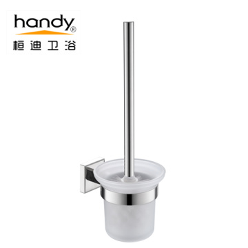 ရေချိုးခန်း 304 Stainless Steel Glass Toliet Brushed Holder