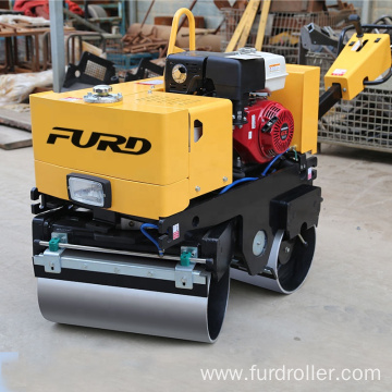Walk behind hydraulic vibratory double drum road roller FYL-800