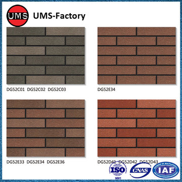 Small format exterior wall tiles