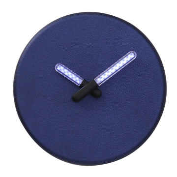 Blue Wall Clocks With Light