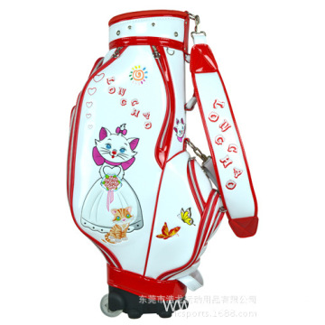 Fashionable golf bag trolley bag light