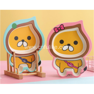 Bamboo Eating Divided Plate Children Tableware