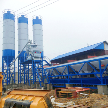 75m3h mini ready-mix bucket type concrete batching plant