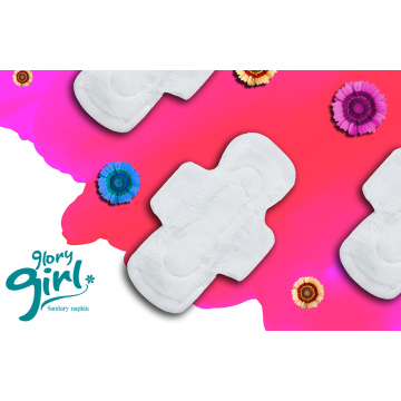 Female cotton sanitary napkin with wings