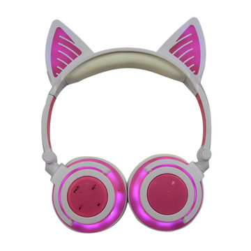 Cuffie per auricolari Cat senza fili Bluetooth Light Led