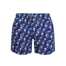Drawstring Surf Printed Beach Shorts Trunks Mens Swimwear