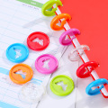 50PCS Colorful Notebook Binding Buckle Mushroom Hole Loose Leaf Ring Round Binding Plastic Disc Buckle Hoop Office Supplies