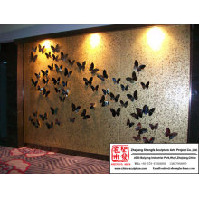 Large Size Butterfly Relief Mural