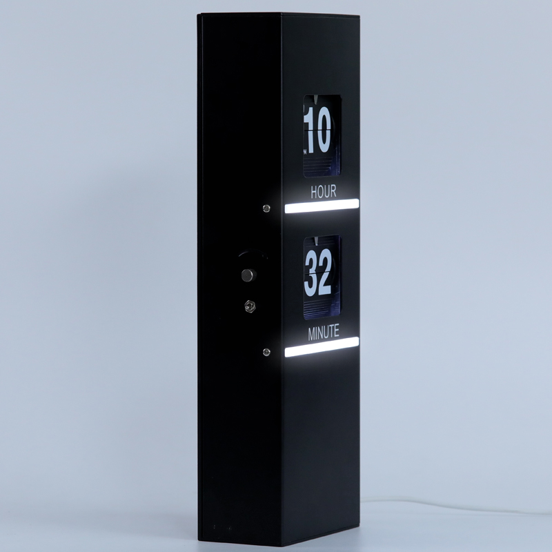 Flip Clock With Decorative Light