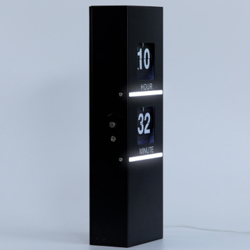 Flip Clock with Decorative Light for Home Decoration