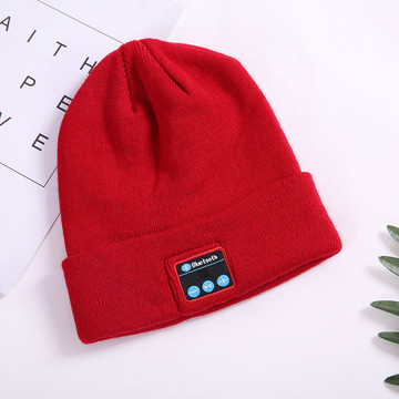 Winter Knitting Beanie Cap Bluetooth Beanie Hat Headphone