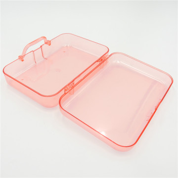 ABS transparent plastic box with lid