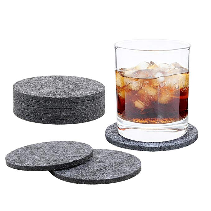 Black Round Drink Coaster 01