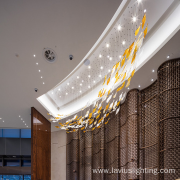 Shopping mall project chandelier pendant light