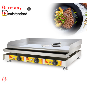 Three head electric griddle big flat griddle