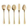 Eco Friendly Gold  Stainless Dessert Spoon Set