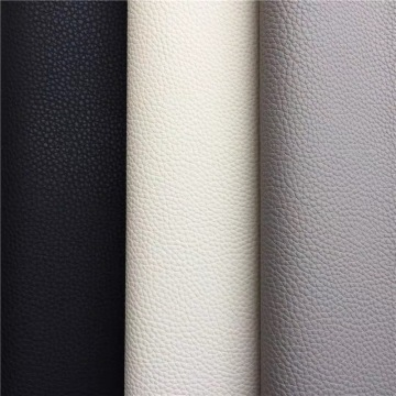 2020 latest Embossed Lichee PU Leather for Sofa