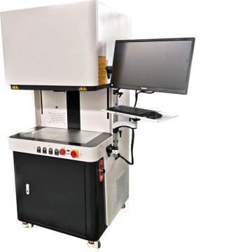 enclosed cnc raycus fiber laser marking machine for titanium