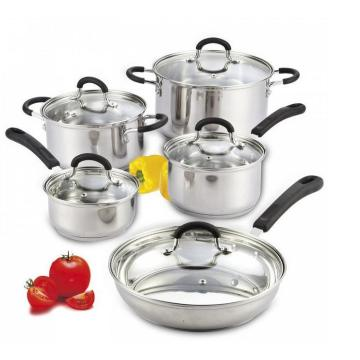 Kitchenware 10PCS Stainless Steel Cookware Set