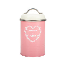 Pink Sugar Tea Coffee Canister Set