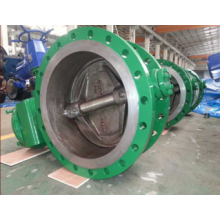 Electric Double Flange Worm Gear Actuated Butterfly Valve