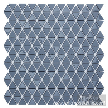 Gray Triangle Glass Mosaic for Wall Decoration
