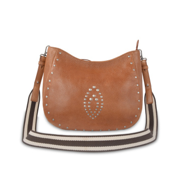 Top Grade Leather Cross Body Bag With Rivet