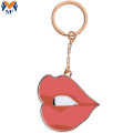 Promotional Gift Metal Customized Red Lip Keychain