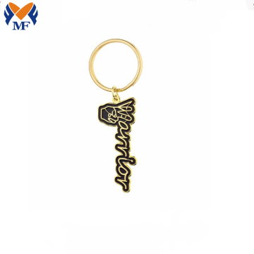 Metal Custom Gold Letter Keyring