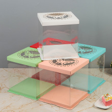 plastic clear cake box transparent