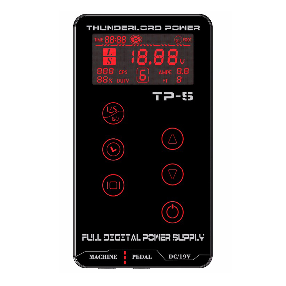 Newest Tattoo Power Supply UPGRADE Touch Screen TP-5 Intelligent Digital LCD Makeup Dual Tattoo Power Supply