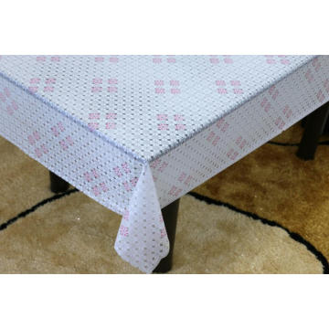 Printed pvc lace tablecloth rectangle