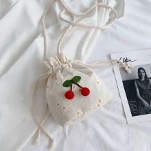 Girl Flower Bucket Bag Foreign Style Versatile Casual Shoulder Messenger Bag For Women Print Handbags Small Capacity Purse