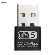 Kebidu 2.4Ghz/5.8Ghz USB Wireless/WiFi AC Adapter Dual Band 1200Mbps Network Card USB2.0 Wi-fi Adapter Support 802.11b/g/n