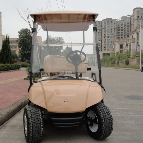 beige body and seat golf cart
