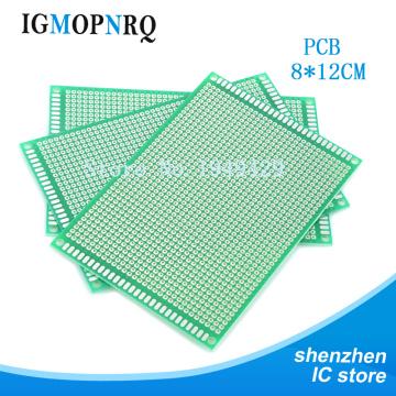 2pcs Double Side Prototype PCB 8*12cm diy Universal Printed Circuit Board 8X12