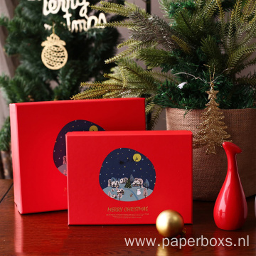 Custom Printing Christmas Gift Packaging Rigid Paper Boxes