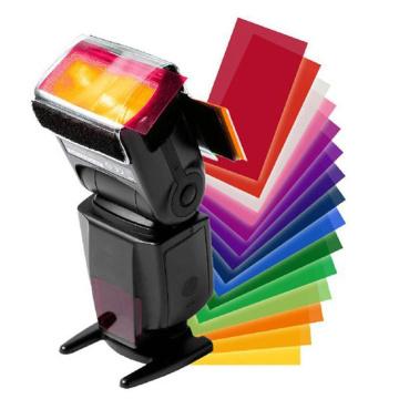 For yongnuo Color Gel Filter Flash Diffuser Soft Box 12 Sets of Colors Studio Flash Camera Diffuser