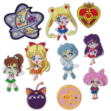 Anime Sailor Moon lron on Embroidery Patches Clothing