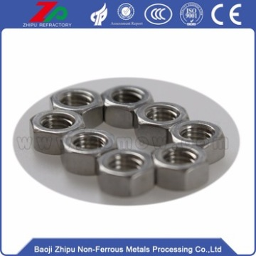 Tungsten screw nuts bolts for fasteners