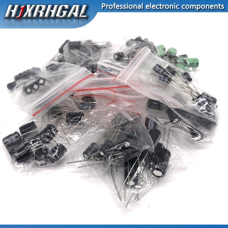 12valuesX10pcs=120pcs 0.22UF-470UF Aluminum electrolytic capacitor component diy assortment kit new and original hjxrhgal